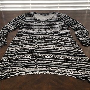 NWOT Lord & Taylor Context Blk & Wt Top Medium